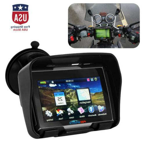 4 3 touch screen bluetooth motorcycle gps