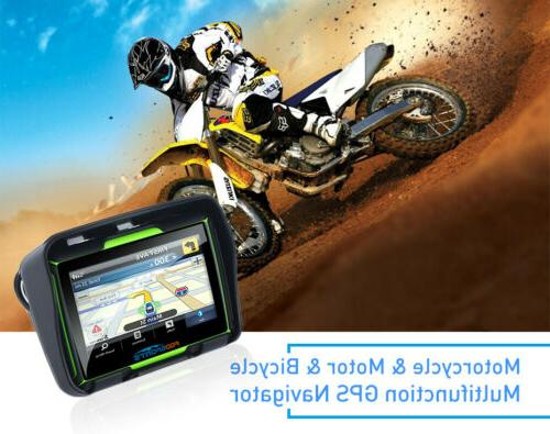 "4.3"" Touch Screen Motorcycle Car Bluetooth Navigation SAT NAV+Map"