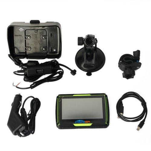 "4.3"" BT Touch Screen Waterproof Motorcycle Autos GPS Navigator Bluetooth 8GB"