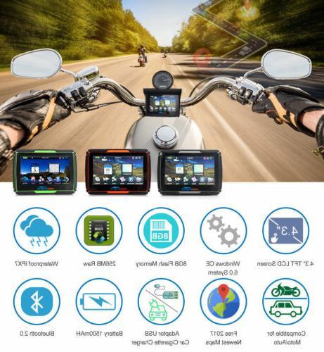 "4.3"" Touch screen waterproof Motorcycle Bike GPS Navigation"