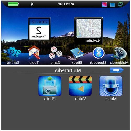 "4.3"" screen Motorcycle GPS NAV Bluetooth"