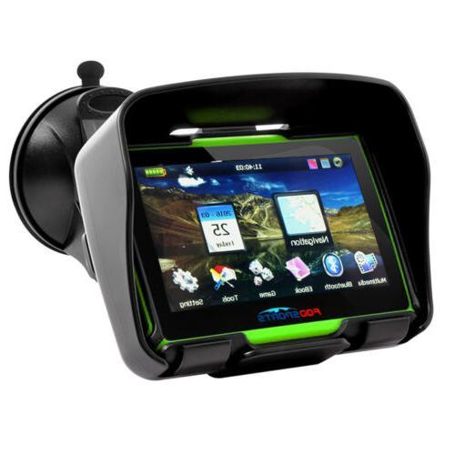 """4.3"""" Waterproof Motorcycle Sat Bluetooth 8GB"""