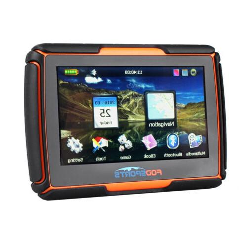 "4.3"" Touch Waterproof Motorcycle Navigation Sat Bluetooth 8GB"