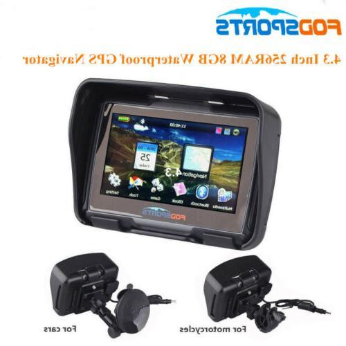 "4.3"" GPS Motorcycle Navigator BT Touch Moto Car Navigation S"