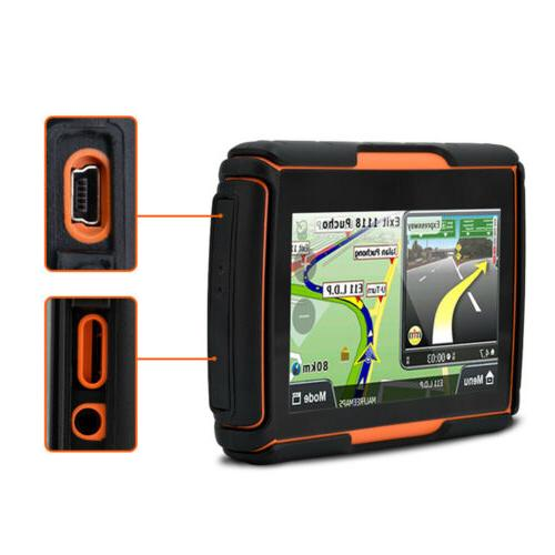 "4.3"" Motorcycle Car GPS Auto SAT Maps"