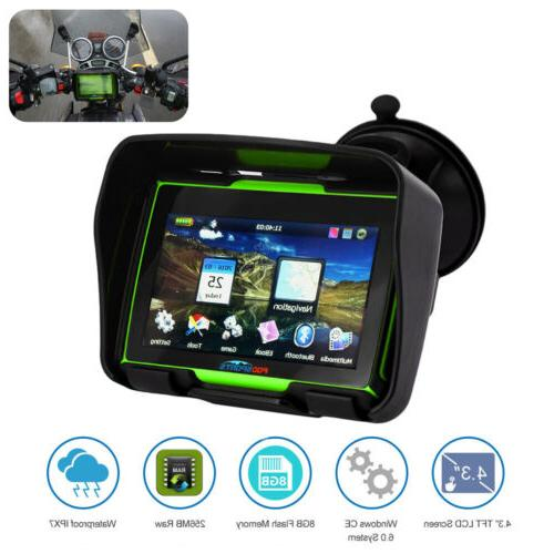 "4.3"" Touch Screen Motorcycle SAT Maps"