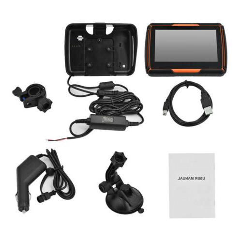 "4.3"" Waterproof Touch Screen Motorcycle Car GPS SAT 8GB 3D Maps"