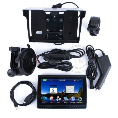 "5.0"" GPS Navigation Screen Bluetooth Waterproof 8GB+Free"