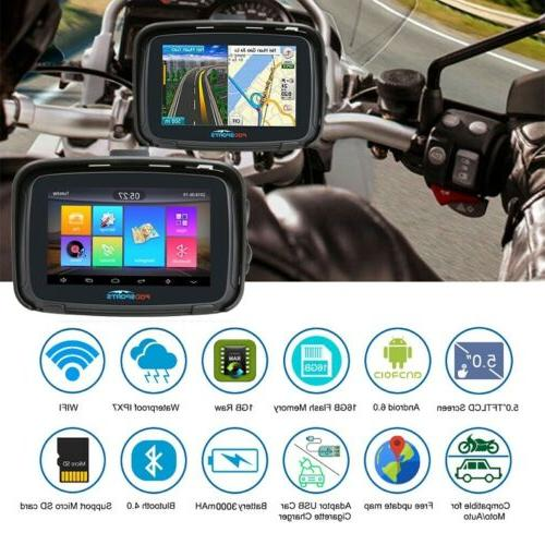 "5"" Screen GPS Motorcycle Navigator Navigation"