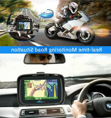 5.0'' Screen Motorcycle Car GPS Navigation 16G Free Maps