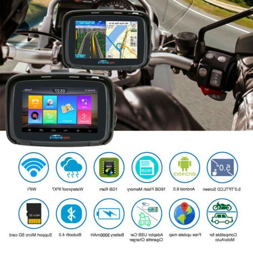 "5"" Android Motorcycle Navigation SAT Map"