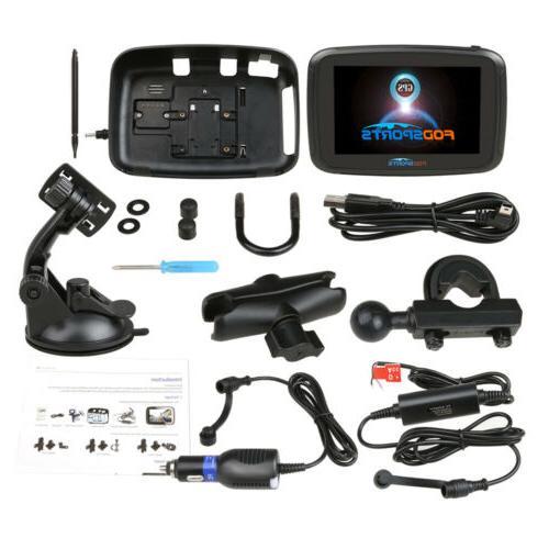"5"" Motorcycle Car SAT Bluetooth Maps"