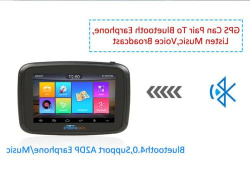 """5"""" Android 6.0 Motorcycle SAT 16GB WIFI Bluetooth Maps"""