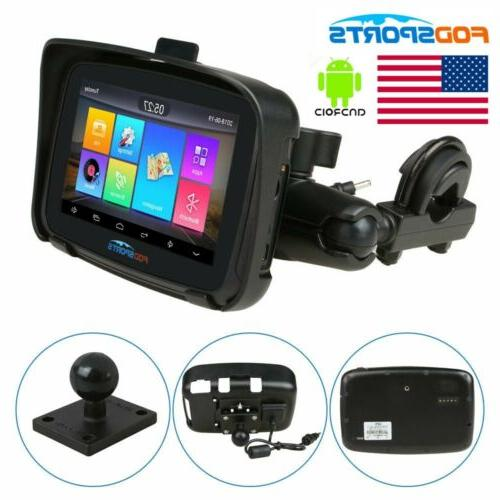 "5"" LCD Android 6.0 BT Navigator Motorcycle 16GB NAT Maps"