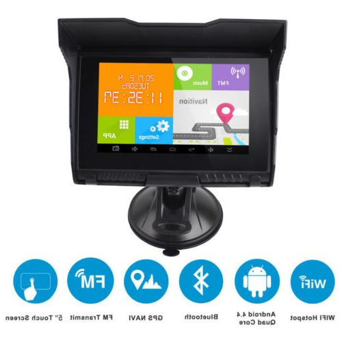 5'' Android 512M 8GB Motorcycle Car Bluetooth Navigation+ Map