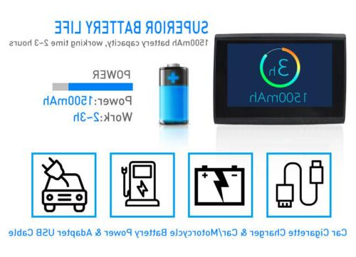 5'' Android GPS 512M 8GB Motorcycle Bluetooth Free