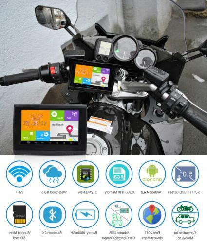 5 android gps navigator 512m 8gb motorcycle