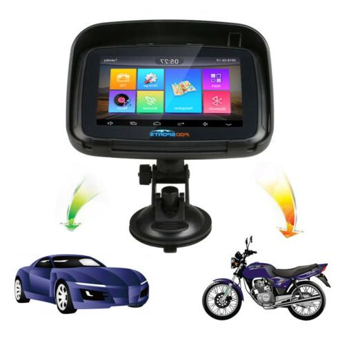 "5"" 6.0 Motorcycle 16GB GPS Truck Car Nav Maps"