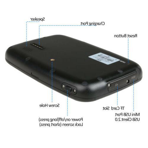 "5"" Android GPS Navigation Wi-Fi Hotspot Free Maps"