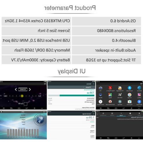 """Motorcycle Android 6.0 Navigator 5.0"""" Navigation Sat 16G Free"""