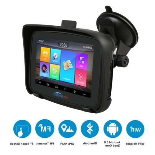 """5"""" Android 6.0 Motorcycle GPS Navigation Car Navigator 16GB"""