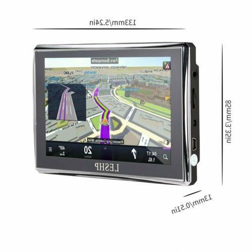 "5"" Motorcycle Navigation 8GB SAT Free Global"