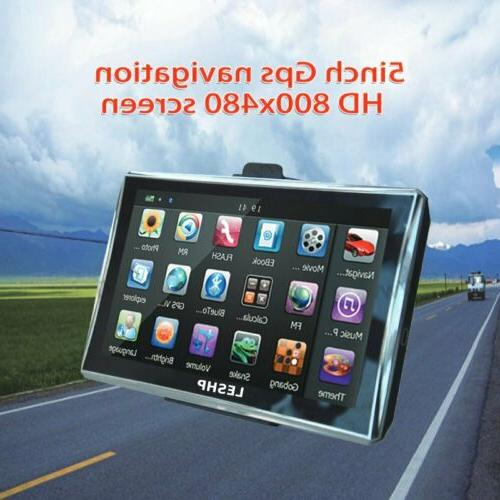 5 motorcycle car gps navigation 8gb touch