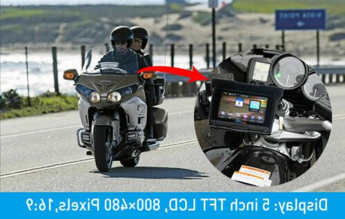 "5"" Motorcycle Bluetooth 8GB Navigation SAT NAV Maps"