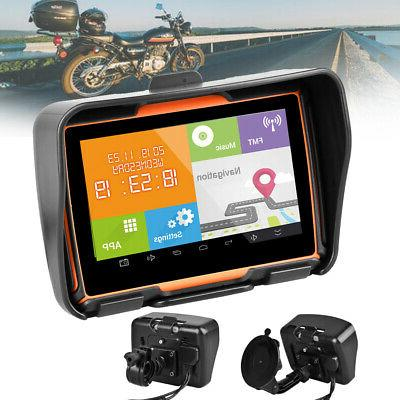 5 motorcycle gps bluetooth navigator 8gb waterproof