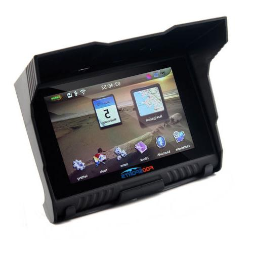 "5"" Motorcycle GPS Nav Navigation Screen IPX7 Free Map"