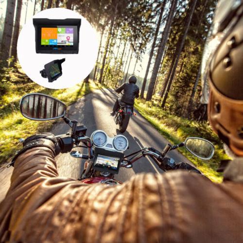 """5.0"""" Motorcycle Waterproof GPS SAT NAV 256M Maps"""