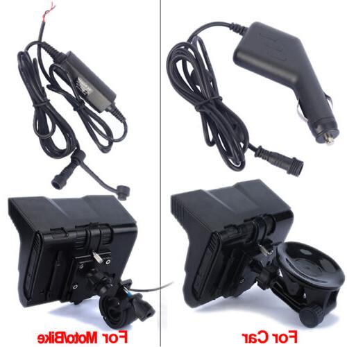 "5"" TFT Waterproof Motorcycle Navigator Flash+Free"