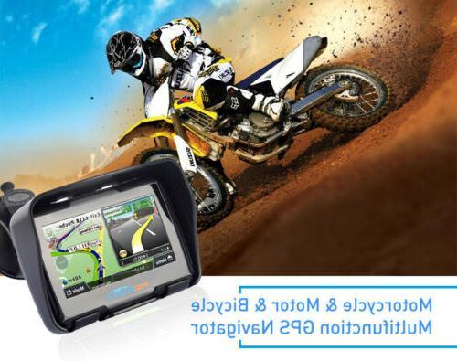 Waterproof Motorcycle GPS Navigator Car BT Map