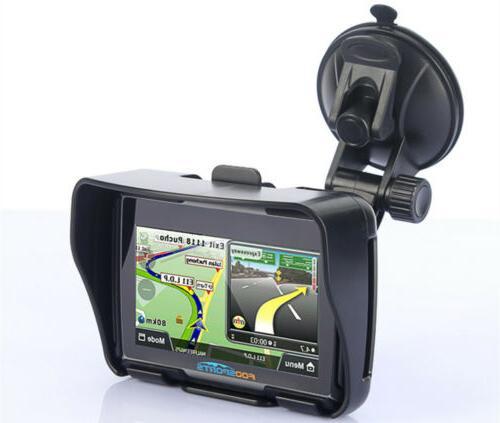 Waterproof Motorcycle GPS Car BT Navigation Map