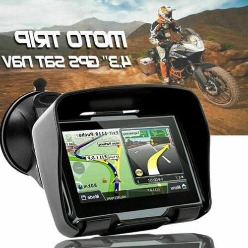 """4.3"""" Motorcycle GPS Navigation Navigator 8GB Car BT SAT NAV"""
