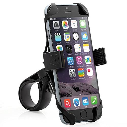 Aduro U-Grip Plus Universal Bike Motorcycle, Handlebar, Roll iPhone X 6 6s 5 5s 5c Mount for All Smartphones, GPS