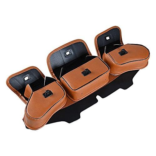 Brown Motorcycle Three-Pocket Pouch For 1996-2013 Street Glide