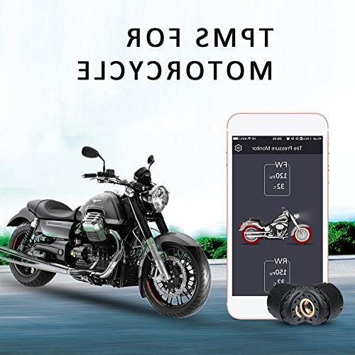 Motorcycle Bluetooth Tire Pressure Monitoring System TPMS Mo