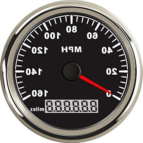 Samdo 85mm GPS Speedometer Gauge Universal Odometer 160MPH F