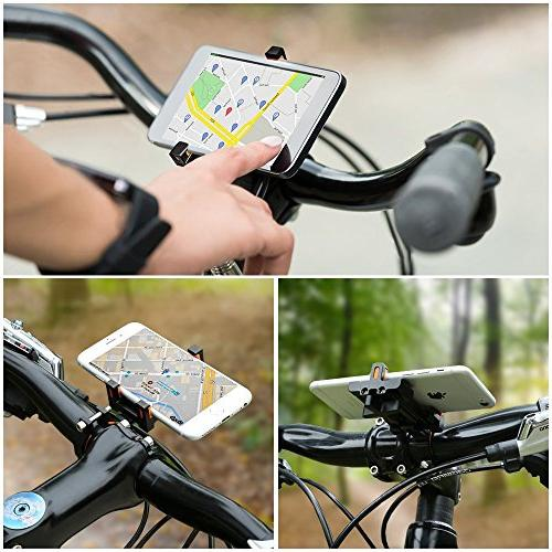 Aileap Holder Adjustable Bicycle Handlebar for X, | 7 | 7 Plus, 6s 6s Galaxy S7/S6/S5, GPS