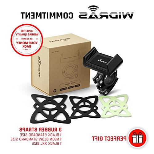 Widras Phone Bike and Cell Phone Holder 2nd iPhone 7s 6 6s 5 5s Galaxy S9 or Any Smartphone GPS Mountain Cradle