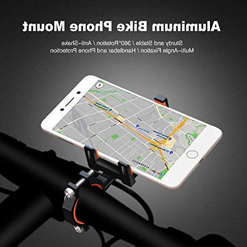 ELECFUN Bike Mount, 360° Rotation Aluminum Phone Holder for Adjustable Handlebar iPhone 7 Galaxy Wide