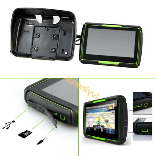 "Bluetooth Nav Motorcycle 4.3"" Touch Screen8GB Green"