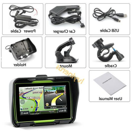 "Bluetooth Car Sat Nav 4.3"" GPS Touch Map"