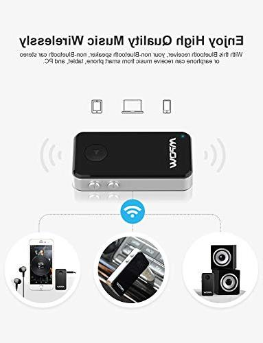 Mpow Bluetooth Receiver, Mini Bluetooth Adapter / 10Hrs Hands-Free Car Wireless Adapter Car/Home Stereo System