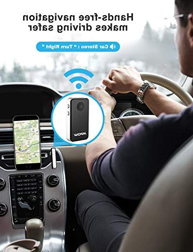 Mpow Bluetooth Receiver, Mini Bluetooth Car Aux Adapter / Car Kits/Portable Adapter Stereo System