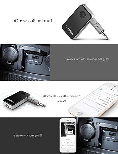 Mpow Bluetooth Receiver, Mini Car Adapter / 10Hrs Car Kits/Portable Adapter Stereo System