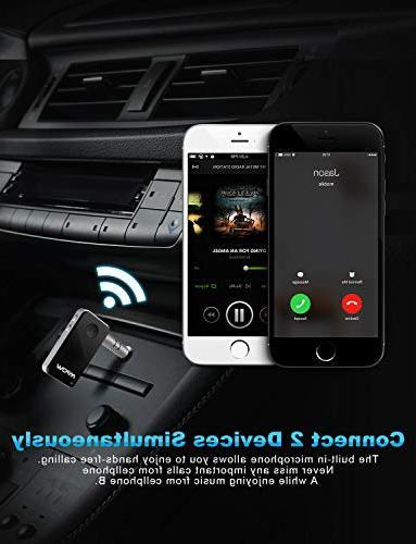 Mpow Bluetooth Streambot Mini Bluetooth Car Adapter Hands-Free Car Adapter Car/Home Audio