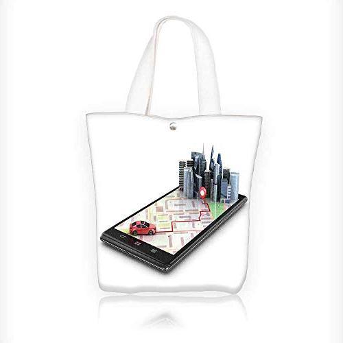 canvas tote handbag mobile gps