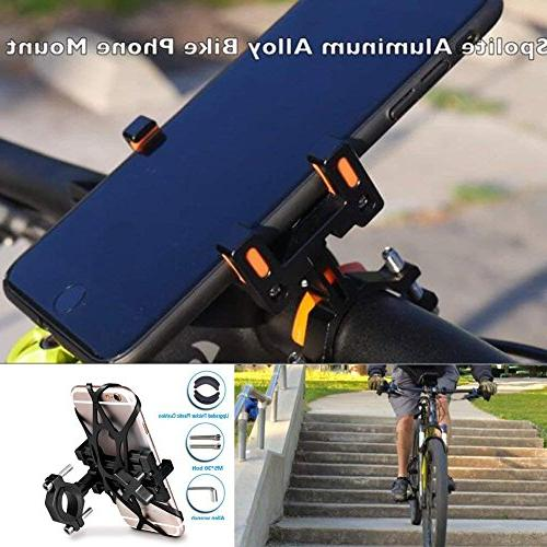 chrome bike phone mount